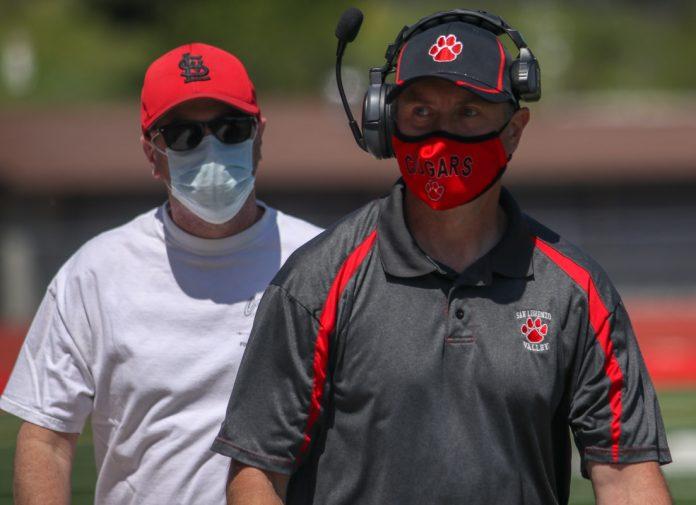 San Lorenzo Valley High football coach Dave Poetzinge