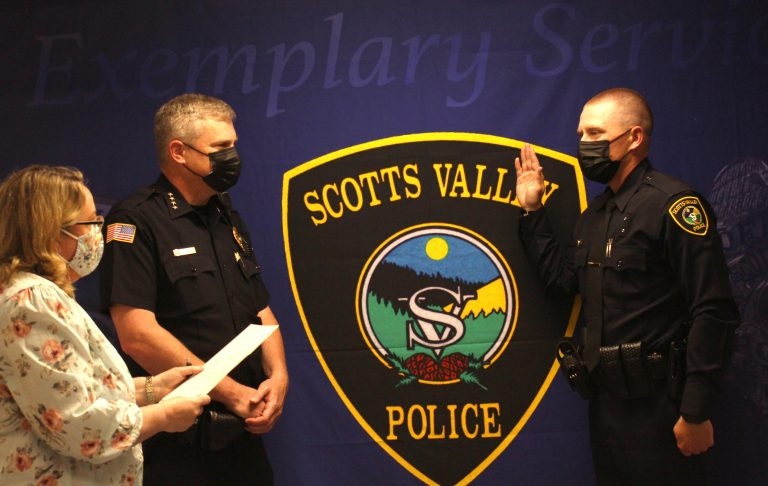Scotts Valley PD swears in fifth officer this year